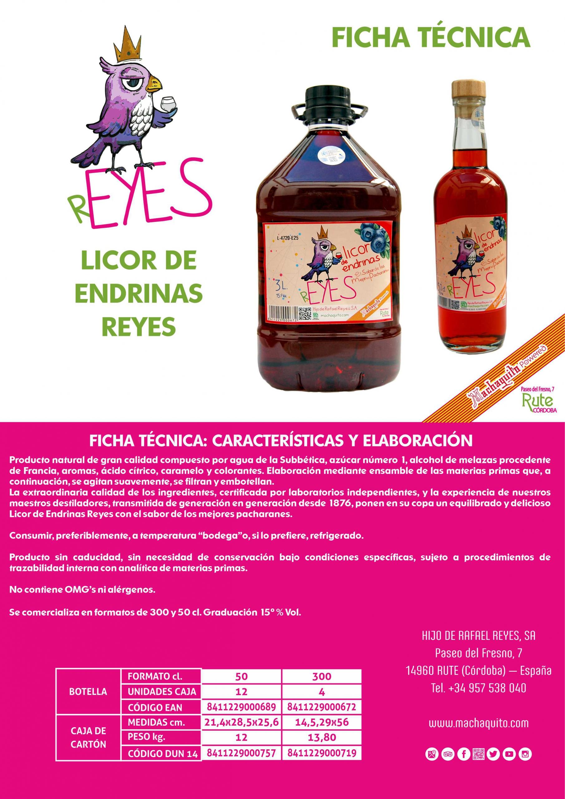 LICOR DE ENDRINAS FICHA